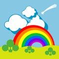 Landscape Rainbow Background