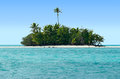 Landscape of rapota island in aitutaki lagoon cook islands view from the sea it was the location for series the popular us reality Stock Photos