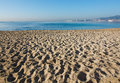 Landscape with sandy beach in december in mallorca balearic islands spain Stock Image
