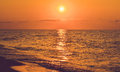 Landscape of the sea during calm with  sun Royalty Free Stock Photo