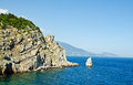 Landscape with sea and mountains crimea Royalty Free Stock Image