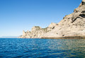 Landscape with sea and mountains crimea Royalty Free Stock Images