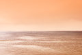 Landscape of sepia sea Royalty Free Stock Photo