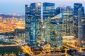 Landscape of the Singapore financial district and business building Royalty Free Stock Photo