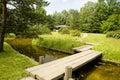 Landscape with a small bridge Stock Photo