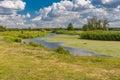 Landscape on a small Ukrainian river Merla at summer season