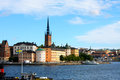 Landscape from Stockholm city hall in summer, Sweden Royalty Free Stock Photo