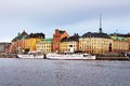Landscape of stockholm and waterfront sweden in the summer Stock Photography