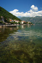 Landscape in stoliv summer the seaside village montenegro Royalty Free Stock Photos