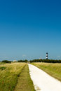Landscape street lighthouse island oleron france Stock Photography