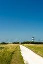 Landscape street lighthouse island oleron france Stock Photography