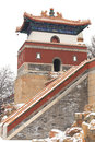 Landscape of Summer Palace in winter Stock Image