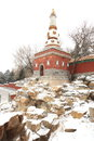 Landscape of Summer Palace in winter Stock Photography