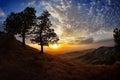 Landscape At Sunset/sunrise In...