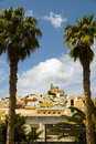 Landscape Syros Island Greece famous church Royalty Free Stock Photos