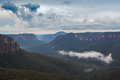 Landscape taken in blue mountains of australia Stock Photos