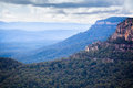 Landscape taken in blue mountains of australia Royalty Free Stock Image