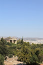 Landscape of Temple of Hephaestus Stock Images
