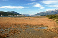 Landscape in tivat saline view from a natural reserve the municipality of montenegro Royalty Free Stock Images