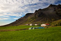 Landscape a the town hof at iceland Royalty Free Stock Photos