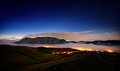 Landscape with Trascau mountains before sunrise, Romania Royalty Free Stock Photo