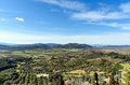 Landscape in tuscany, italy Royalty Free Stock Photo