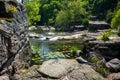Landscape of ukrainian canyon in buki beautiful Stock Photos