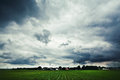Landscape under cloudy weather green Stock Images