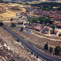 Landscape of valladolid province spain taken from penafiel castle Stock Images