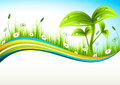 Landscape vector illustration of spring banner Royalty Free Stock Photography