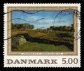 `Landscape from Vejby, 1843` by Johan Thomas Lundbye, danish painter Royalty Free Stock Photo