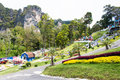 Landscape view in garden of 7 heaven krabi thailand Royalty Free Stock Photo