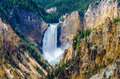 Landscape view at Grand canyon of Yellowstone, USA Royalty Free Stock Photo