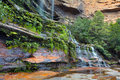 Landscape view of Katoomba Falls Blue Mountains New South Wales Royalty Free Stock Photo