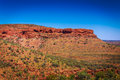 Landscape view at Kings Canyon, Australia Outback Royalty Free Stock Photo