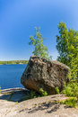 Landscape view in monrepo in vyborg russia Stock Images