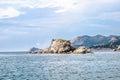 Landscape view in noviy svet in crimea from the sea ukraine Royalty Free Stock Image