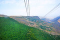 Landscape view from ropeway altitude in armenia Royalty Free Stock Image