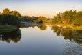 Morning on a Vorskla river at late autumnal season, Sumskaya oblast, Ukraine