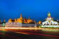 Landscape of Wat Prakaew where is the most popular place Royalty Free Stock Photo
