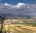 Landscape yizrael valley of from mountain carmel israel Royalty Free Stock Image