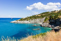 Landscape of zante island greece the beautiful in Stock Photo