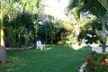 Landscaped tropical garden Stock Photo