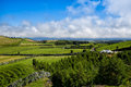 The landscapen on sao miguel volcanic hills island azores portugal Stock Images