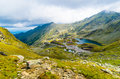 Landscapes bâlea lake fagaras mountains Stock Photo