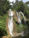Landscapes of cuba waterfall in jungle in parque natural topes de collantes Stock Image