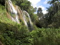 Landscapes of cuba waterfall in jungle in parque natural topes de collantes Stock Images