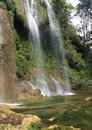 Landscapes of cuba waterfall in jungle in parque natural topes de collantes Stock Photo