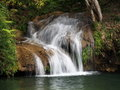 Landscapes of cuba waterfall in jungle in parque natural topes de collantes Stock Photos