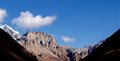 Landscapes in manang the view of mountains seen on the way to thorong la pass from nepal Stock Image